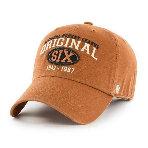 Original Six 47 Brand Burnt Orange Clean Up Adjustable Hat