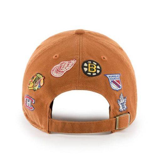 Original Six 47 Brand Burnt Orange Clean Up Adjustable Hat Back