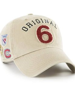 Original Six 47 Brand Khaki Clean Up Adjustable Hat Alt Side