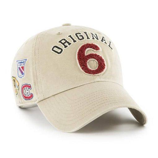 Original Six 47 Brand Khaki Clean Up Adjustable Hat Alt Side