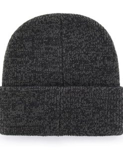 Pittsburgh Steelers 47 Brand Brain Freeze Black Gray Cuff Knit Hat Back