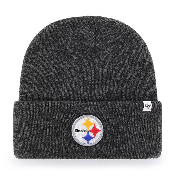 e84e2eda Pittsburgh Steelers 47 Brand Brain Freeze Black Gray Cuff Knit Hat