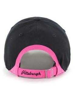 Pittsburgh Steelers Women's Skyler Clean Up Pink Black 47 Brand Hat Back