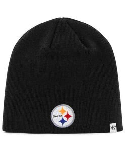 Pittsburgh Steelers YOUTH 47 Brand Black Beanie Hat