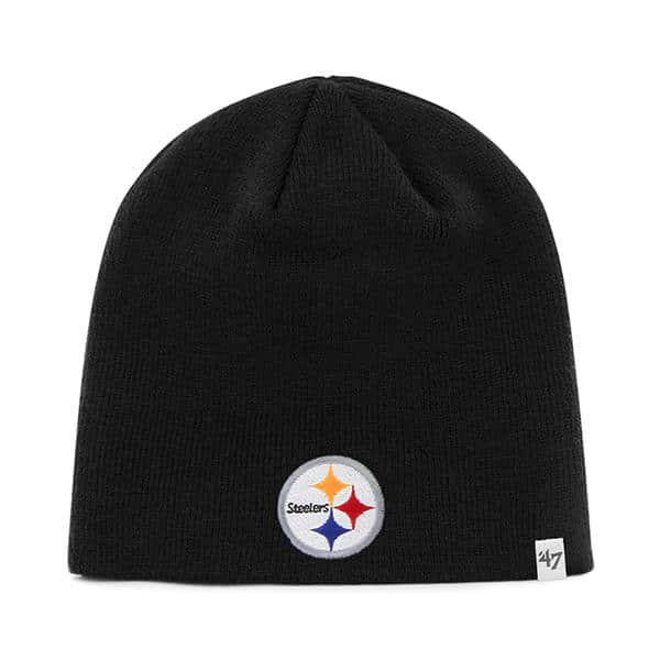 Pittsburgh Steelers YOUTH 47 Brand Black Beanie Hat - Detroit Game Gear 47b56a529ee