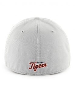 Detroit Tigers 47 Brand Franchise Gray Navy Logo Fitted Hat Back
