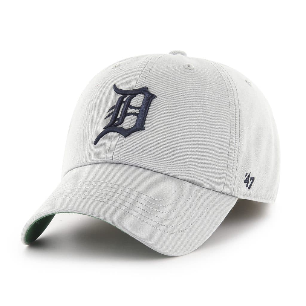 Detroit Tigers 47 Brand Franchise Gray Navy Logo Fitted Hat