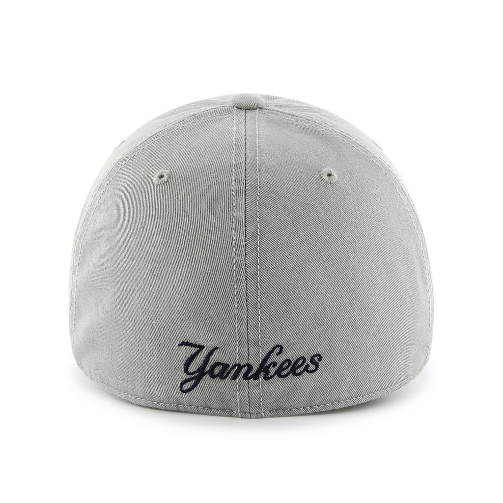 New York Yankees 47 Brand Franchise Gray Navy Logo Fitted Hat Back