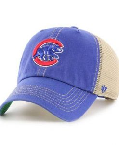 Chicago Cubs 47 Brand Trawler Blue Clean Up Adjustable Hat