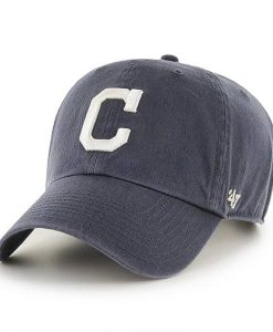 Cleveland Indians 47 Brand Vintage Navy Clean Up Adjustable Hat
