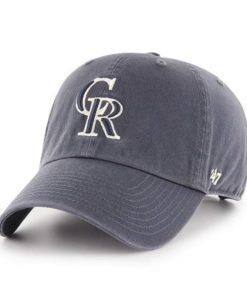 Colorado Rockies 47 Brand Vintage Navy Clean Up Adjustable Hat