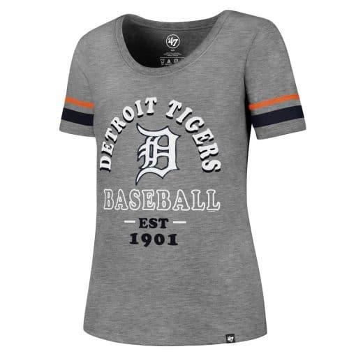 Detroit Tigers Women's 47 Brand Fantasy Scoop Tee T-Shirt