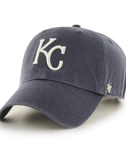 acafa146f0d945 Kansas City Royals 47 Brand Vintage Navy Clean Up Adjustable Hat
