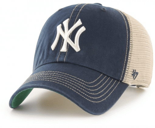 New York Yankees 47 Brand Trawler Navy Clean Up Adjustable Hat
