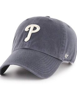 Philadelphia Phillies 47 Brand Vintage Navy Clean Up Adjustable Hat