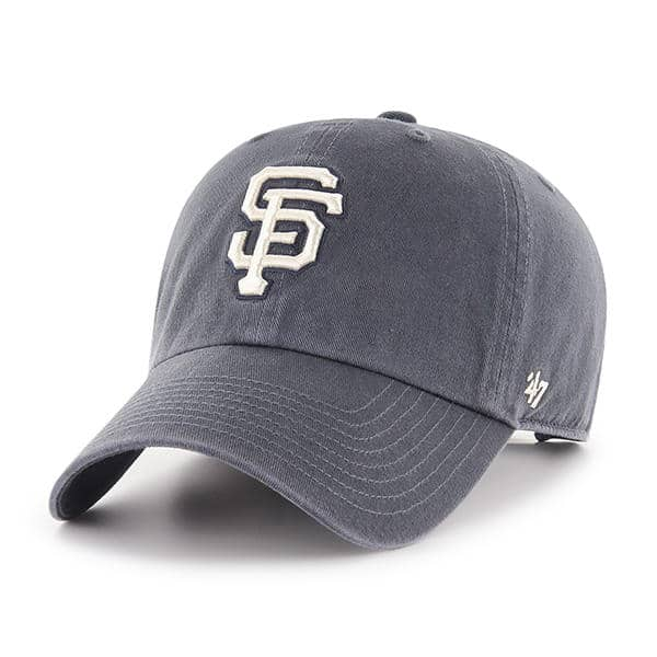 info for 6f717 b1ac9 San Francisco Giants 47 Brand Vintage Navy Clean Up Adjustable Hat -  Detroit Game Gear