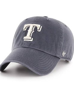 Texas Rangers 47 Brand Vintage Navy Clean Up Adjustable Hat