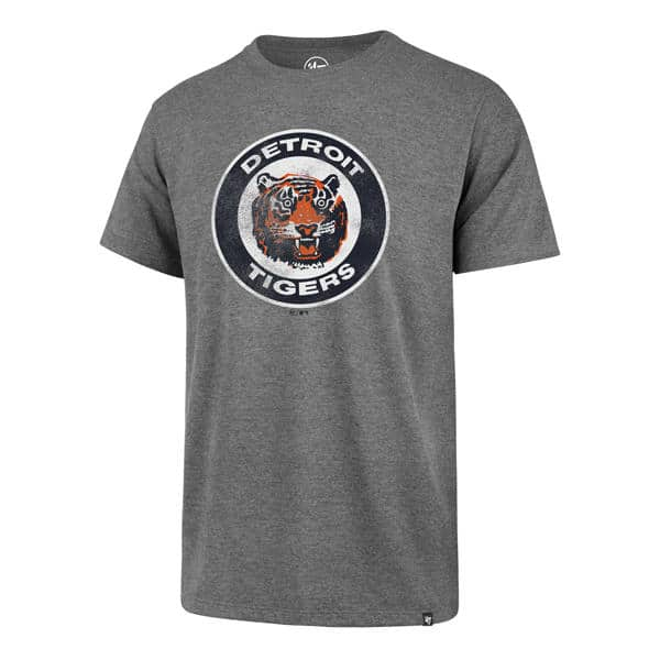 Detroit Tigers Men's 47 Brand Grey Vintage T-Shirt Tee