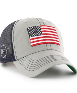 Operation Hat Trick Clean Up Trawler Gray 47 Brand Adjustable USA Flag Hat