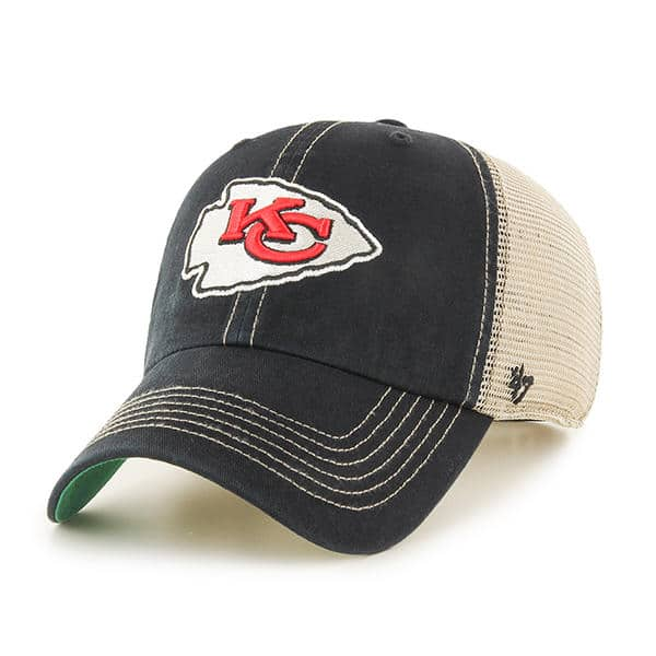 Kansas City Chiefs 47 Brand Trawler Black Clean Up Adjustable Hat