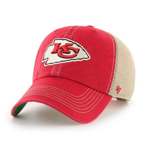 Kansas City Chiefs 47 Brand Trawler Red Clean Up Adjustable Hat
