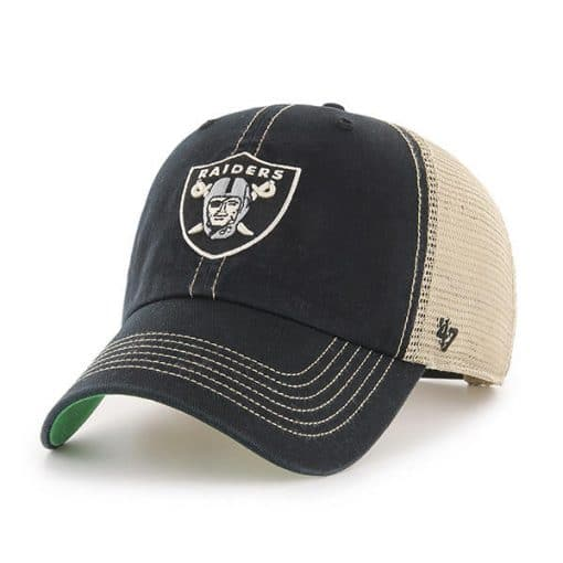 Oakland Raiders 47 Brand Trawler Black Clean Up Adjustable Hat