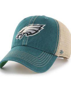 7c0fa71c54011 Philadelphia Eagles 47 Brand Trawler Green Clean Up Adjustable Hat