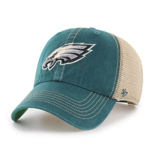 Philadelphia Eagles 47 Brand Trawler Green Clean Up Adjustable Hat