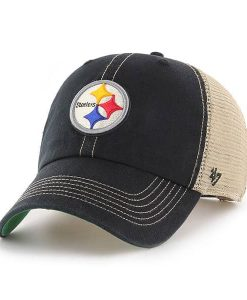 Pittsburgh Steelers 47 Brand Trawler Black Clean Up Adjustable Hat