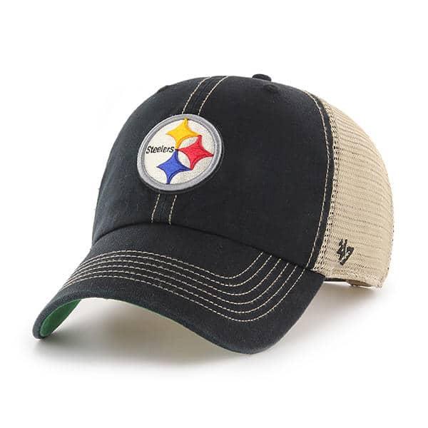 Pittsburgh Steelers 47 Brand Trawler Black Clean Up Adjustable Hat