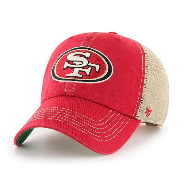 San Francisco 49ers 47 Brand Trawler Red Clean Up Adjustable Hat