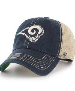 Los Angeles Rams 47 Brand Trawler Navy Clean Up Adjustable Hat