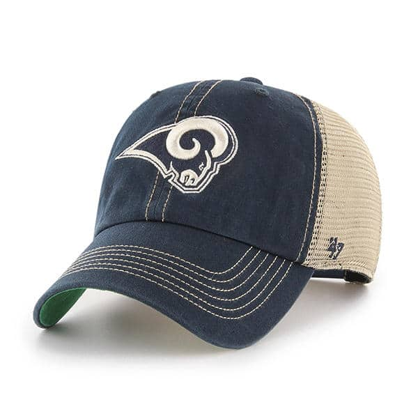 Los Angeles Rams 47 Brand Trawler Navy Clean Up Adjustable Hat