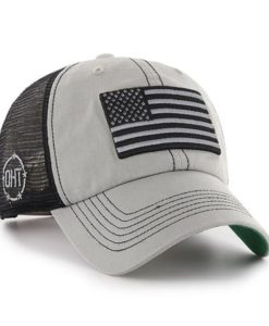 Operation Hat Trick Clean Up Trawler Charcoal 47 Brand Adjustable USA Flag Hat