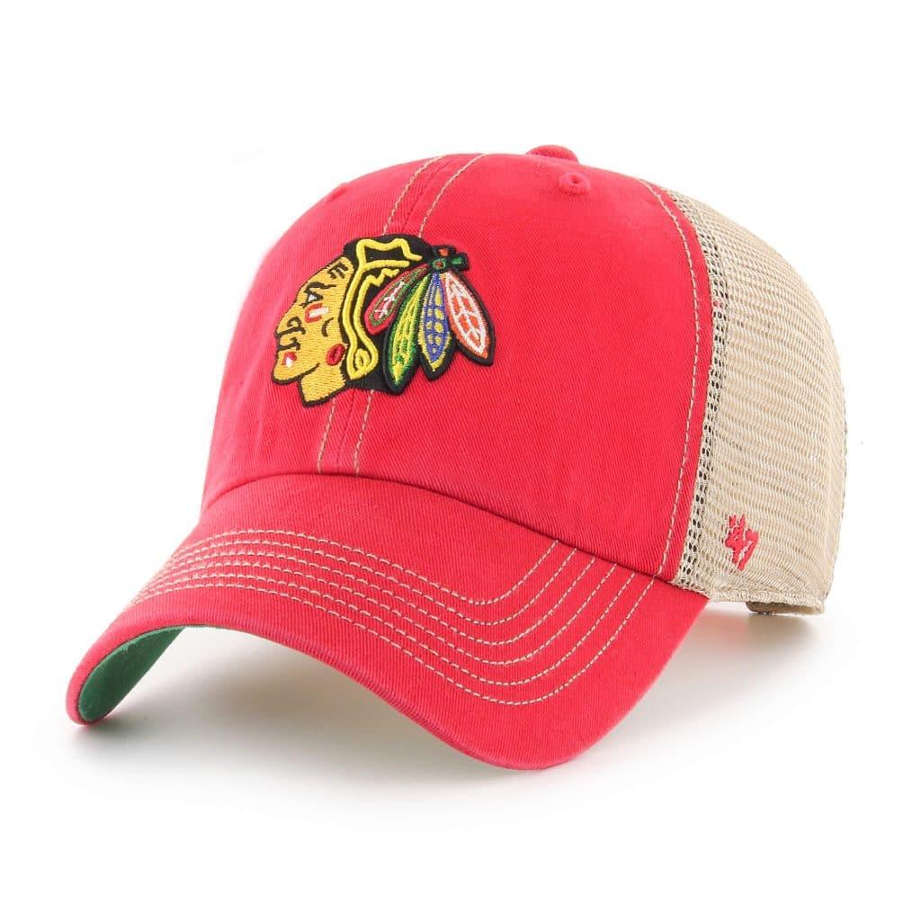 Chicago Blackhawks 47 Brand Trawler Red Clean Up Adjustable Hat