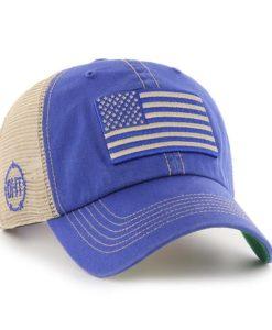 Operation Hat Trick Clean Up Trawler Blue 47 Brand Adjustable USA Flag Hat