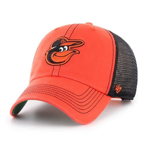 Baltimore Orioles 47 Brand Trawler Orange Clean Up Adjustable Hat