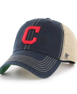 Cleveland Indians 47 Brand Trawler Navy Clean Up Adjustable Hat