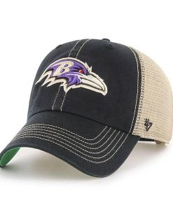 Baltimore Ravens 47 Brand Trawler Black Clean Up Adjustable Hat