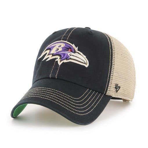 Baltimore Ravens 47 Brand Trawler Black Clean Up Adjustable Hat