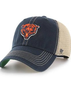 Chicago Bears 47 Brand Trawler Navy Clean Up Adjustable Hat