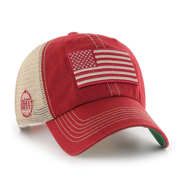 880d0dcbf5c06 Operation Hat Trick Clean Up Trawler Red 47 Brand Adjustable USA Flag Hat -  Detroit Game Gear
