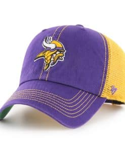 Minnesota Vikings 47 Brand Trawler Purple Clean Up Adjustable Hat