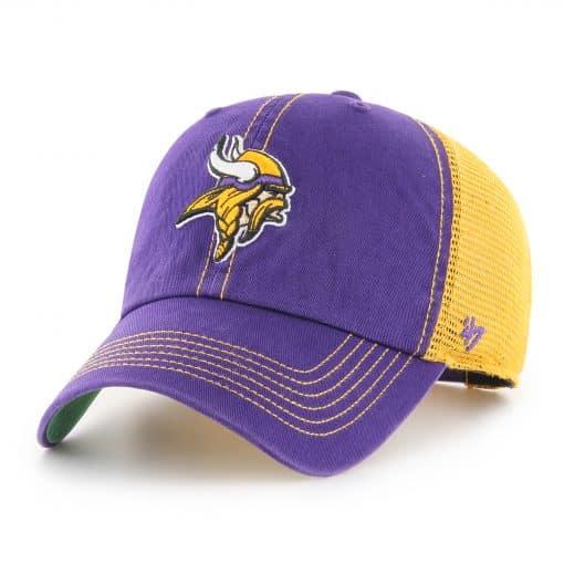 Minnesota Vikings 47 Brand Trawler Purple Clean Up Adjustable Hat
