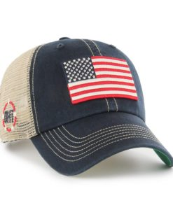 Operation Hat Trick Clean Up Trawler Navy 47 Brand Adjustable USA Flag Hat
