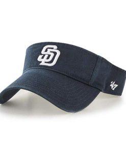 San Diego Padres 47 Brand Clean Up Navy VISOR Adjustable Hat