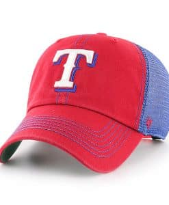 Texas Rangers 47 Brand Trawler Red Blue Clean Up Adjustable Hat