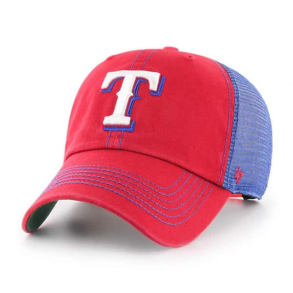 usa cheap sale another chance detailed look Texas Rangers 47 Brand Trawler Red Blue Clean Up Adjustable Hat ...