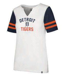 Detroit Tigers Women's 47 Brand All City Rhinestone Tee T-Shirt