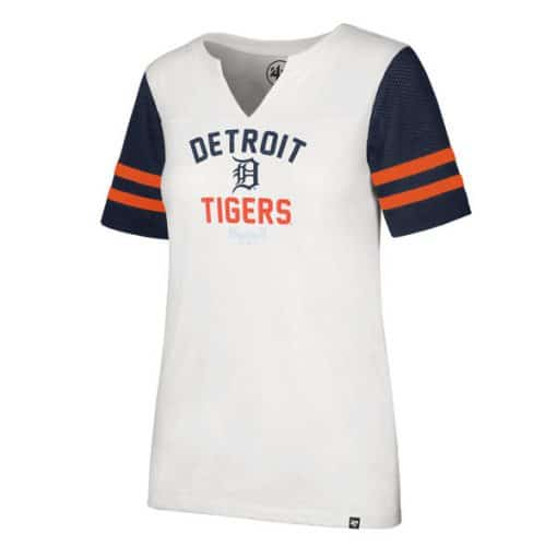 Detroit Tigers Women's 47 Brand All City Rhinestone Tee T-Shirt
